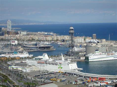 le port de barcelone barcelone le montju 239 c le stade olympique la sardane et le port jacqueslanciault