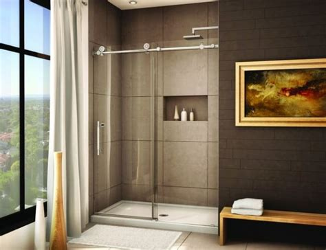 bathroom niche ideas sliding door shower enclosures for the contemporary bathroom