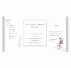 smitten couple folding tri fold wedding invite rsvp With folded wedding invitations with rsvp