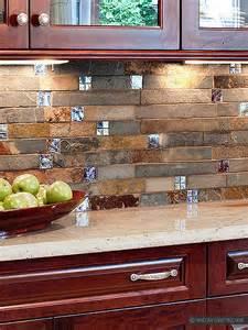 Kitchens With Mosaic Tiles As Backsplash Subway Slate Glass Mosaic Kitchen Backsplash Tile