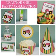 pink tractor birthday images   pink