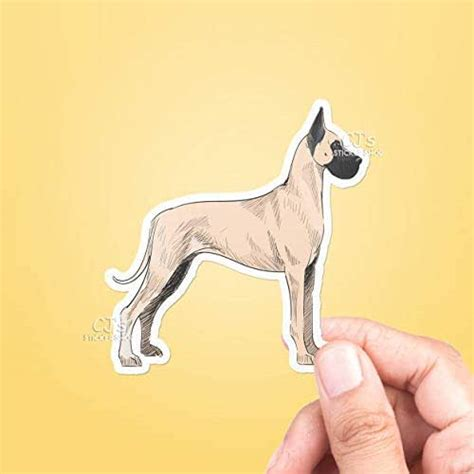 Amazon.com: Great Dane Vinyl Sticker, Best Friend Gift