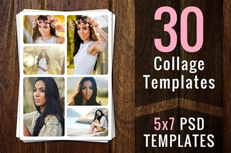 collage template psd photoshop collage templates psd psds card templates creative market