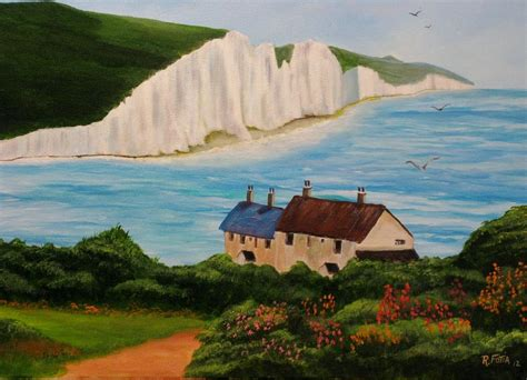 White Cliffs of Dover Painting by Rich Fotia