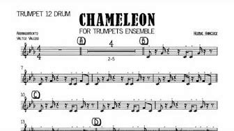 chameleon jazz sheet music trumpet youtube