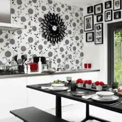 kitchen wallpaper ideas uk monochrome kitchen diner dining room wallpaper ideas housetohome co uk