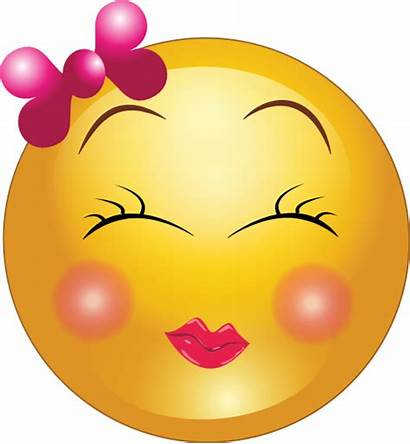 Emoticon Shy Smiley Clipart Domain Faces I2clipart