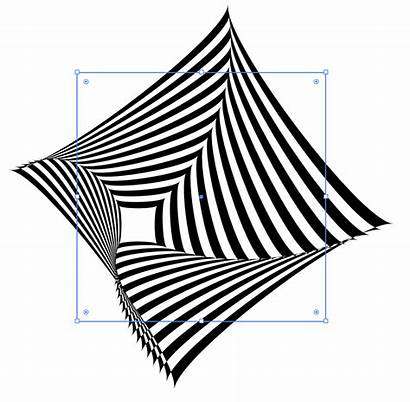 Shape Illusions Optical Isolate Outer Move Effect