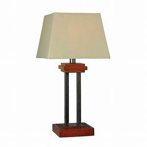 shop kenroy home hadley 32 in metal plug in outdoor table With table lamp no plug