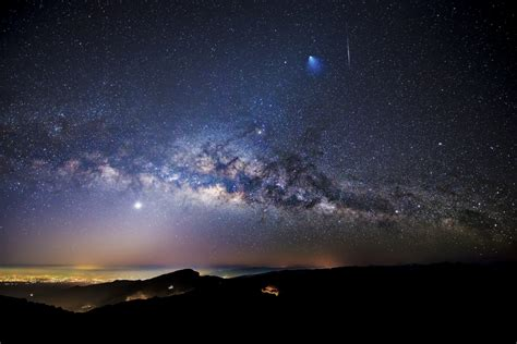 Apod February Rocket Meteor Milky Way