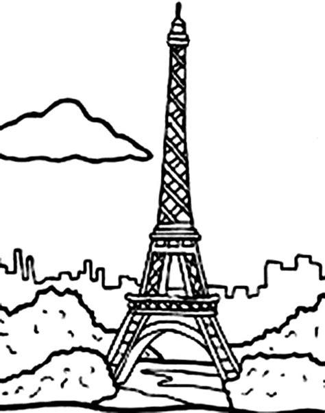eiffel tower drawing easy  getdrawings