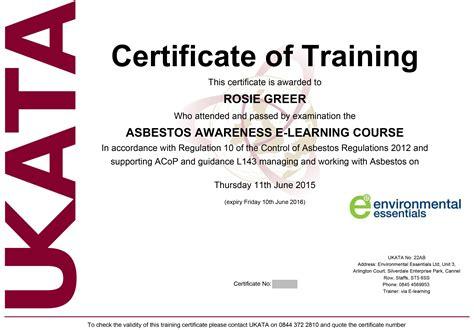 ukata asbestos awareness refresher training