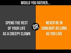 Mixers Would You Rather Halloween Edition