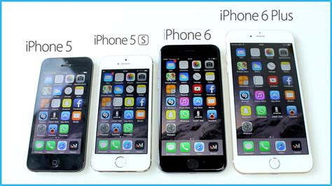 iphone 5s vs 6s comparaison iphone 6 plus vs iphone 6 vs iphone 5s vs