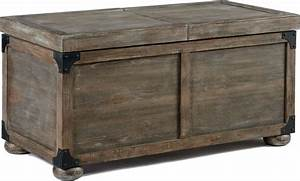 Rustic furniture stores cocktail table with storage for Small storage trunk coffee table