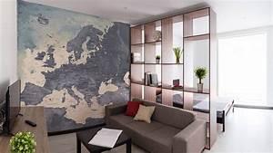 Papier Peint Planisphère : mappemonde papier peint sur mesure d coration murale ~ Teatrodelosmanantiales.com Idées de Décoration