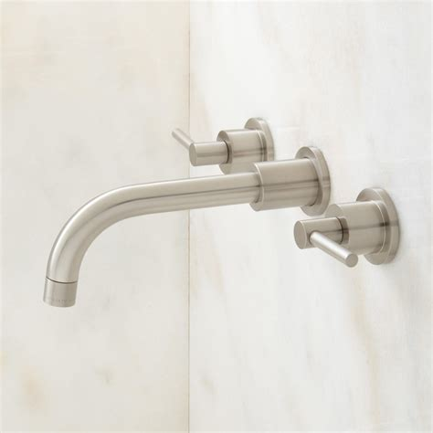 wall mount faucets tipton wall mount bathroom faucet lever handles bathroom