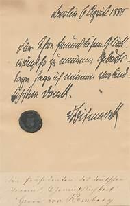 otto von bismarck autograph letter signed With autograph letters