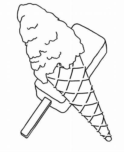 Coloring Pages Ice Cream Popsicle Cone Objects