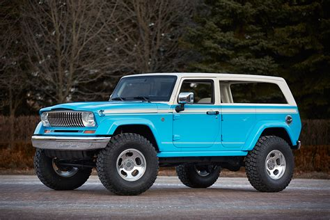 chief blue jeep jeep chief concept pays tribute to the cherokee suv 95
