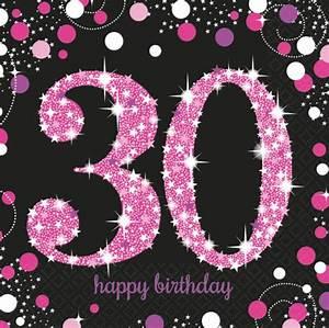 Pappteller 30 Geburtstag : 48 teile zum 30 geburtstag pink glitzer f r 16 personen ~ Markanthonyermac.com Haus und Dekorationen