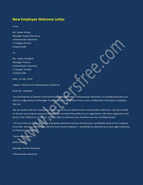 employee  letter sample  letters