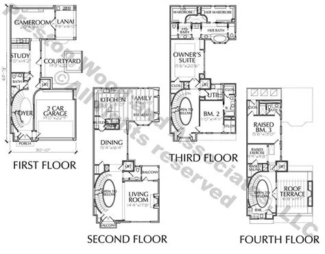 townhouse floor plans with garage 4 story townhouse floor plans for sale