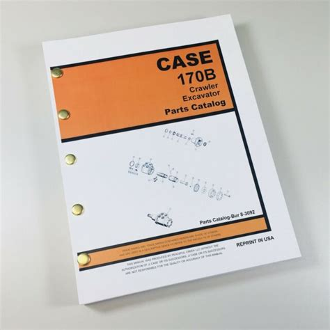 case  crawler track excavator parts manual catalog exploded views assembly ebay