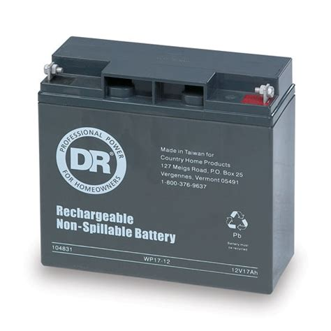 replacement 12v 17ah battery 10483 dr power equipment