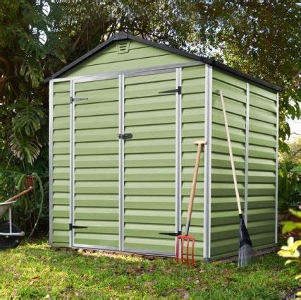 6 X 5 Plastic Shed by 6 X 5 Palram Skylight Plastic Olive Green Shed
