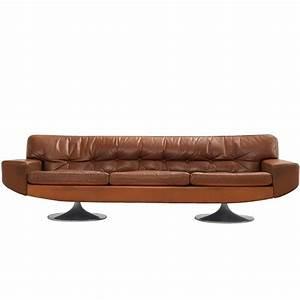Sofa In Cognac : three seather sofa in cognac leather for sale at 1stdibs ~ Indierocktalk.com Haus und Dekorationen