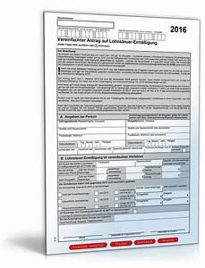 Lohnsteuer 2016 Berechnen : vereinfachter antrag auf lohnsteuer erm igung 2016 formular zum download ~ Themetempest.com Abrechnung
