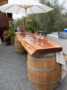 diy outdoor bar ideas using wine barrels garden decor With stylized your outdoor bar with outdoor bar ideas
