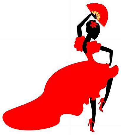 Clip Clipart Dance Lady Silhouette Flamingo Flamenco