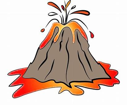 Volcano Clipart Eruption Transparent Volcanoes Animated Background