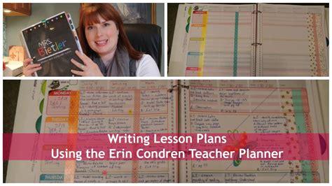 Writing Lesson Plans Using The Erin Condren Lesson Planner