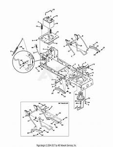 Mtd 13w1762f065  2011  Parts Diagram For Frame  U0026 Pto Lift
