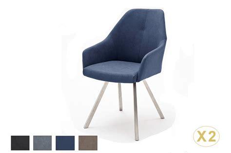 chaises accoudoirs chaises avec accoudoirs simili cuir pied inox novomeuble