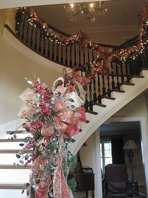decoracion navidena  escaleras
