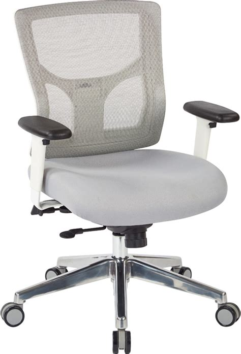 pro line ii progrid white mesh mid back office chair with