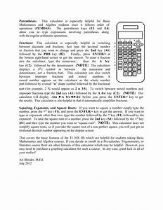 Pdf Manual For Ti Calculator Ti