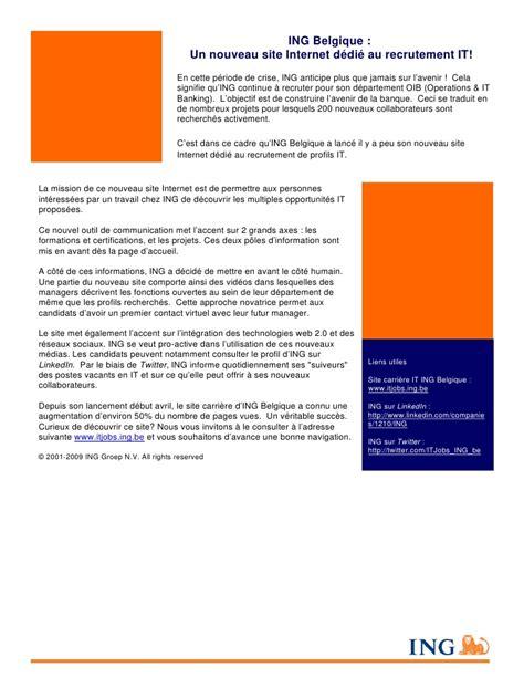 si鑒e ing bruxelles ing belgique un nouveau site dédié au recrutement it