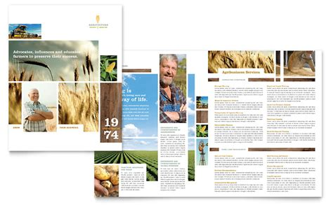 Agriculture Brochure Templates Free Farming Agriculture Brochure Template Word Publisher