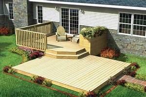 Ground, Level, Wooden, Deck, Ideas