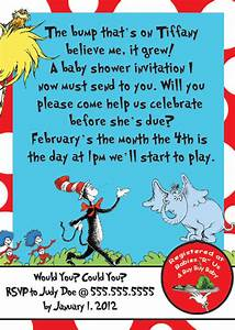 Baby Shower Invitations: Custom Dr Seuss Baby Shower