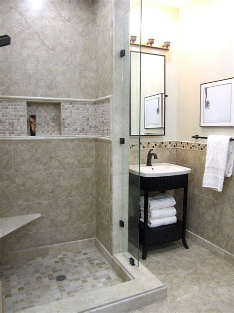 ceramic  stone mixed bathroom