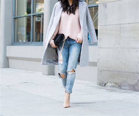 Distressed Skinny Jeans Winter Outfit | Just A Tina Bit