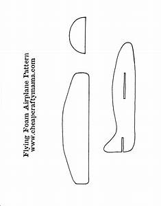 6 best images of printable airplane cut out pattern With cut out airplane template