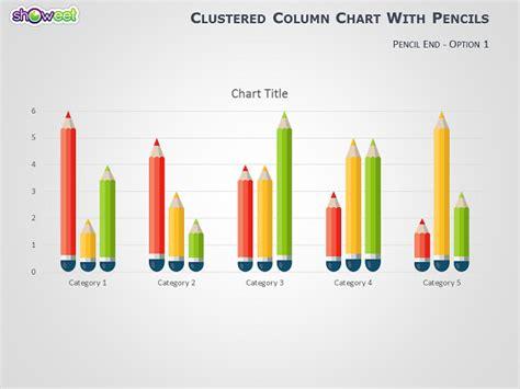 powerpoint graph pencils data driven powerpoint graphs