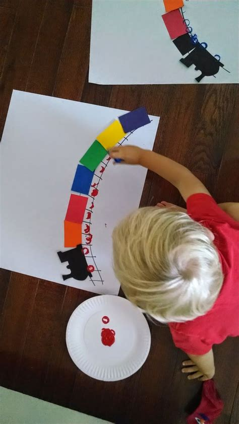 Simple Rainbow Train Craft For Kids  Toddler Approved
